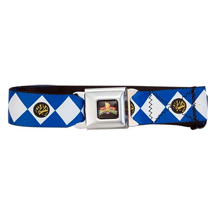 Power Rangers Seatbelt Blue Ranger Belt