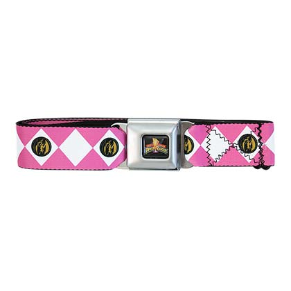 Power Rangers Pink Seatbelt Buckle Belt