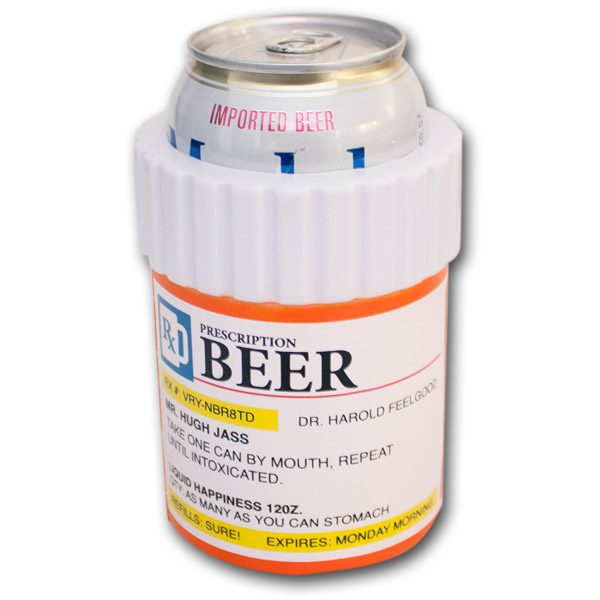 Prescription Bottle Funny Beer Can Koozie