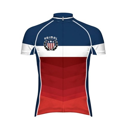 Indivisible Men's Evo Patriotic Cycling Jersey