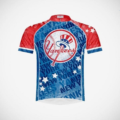 New York Yankees Vintage Logo Cycling Jersey