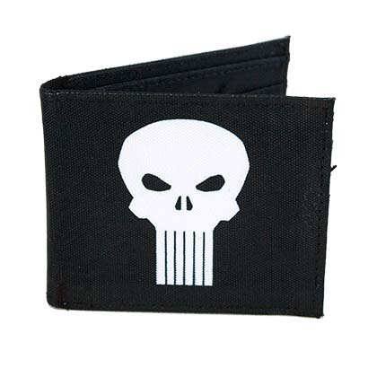 Punisher Bi-Fold Skull Logo Wallet