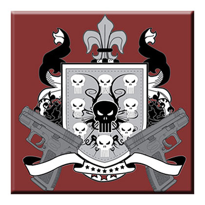 Punisher Pistol Crest Magnet