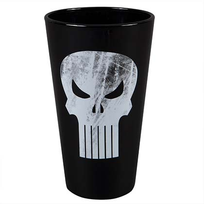 Punisher Skull Logo Pint Glass