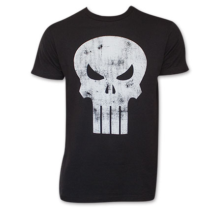 Men's Faded Punisher Skull Tee Shirt