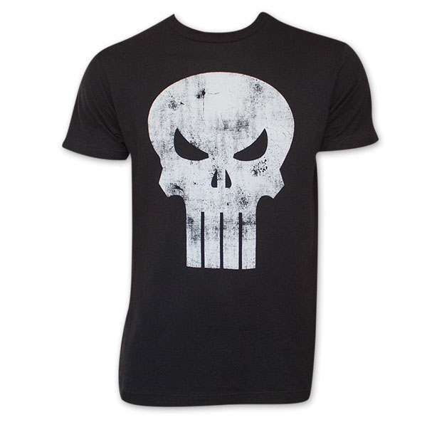 4f7dd5782 item was added to your cart. Item. Price. Black Distressed Punisher Skull  Logo T-Shirt