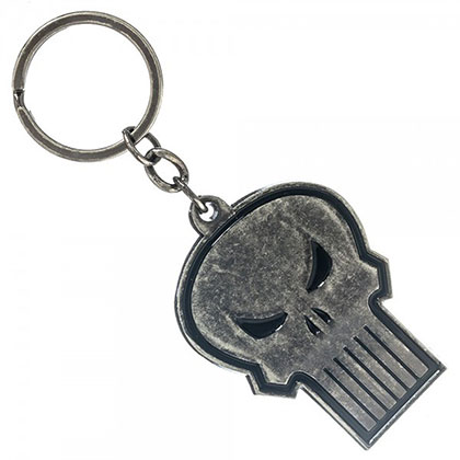 Punisher Metal Skull Keychain