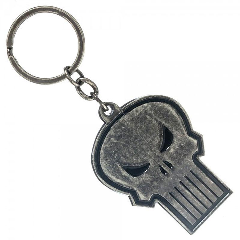 Punisher Skull Logo Keychain