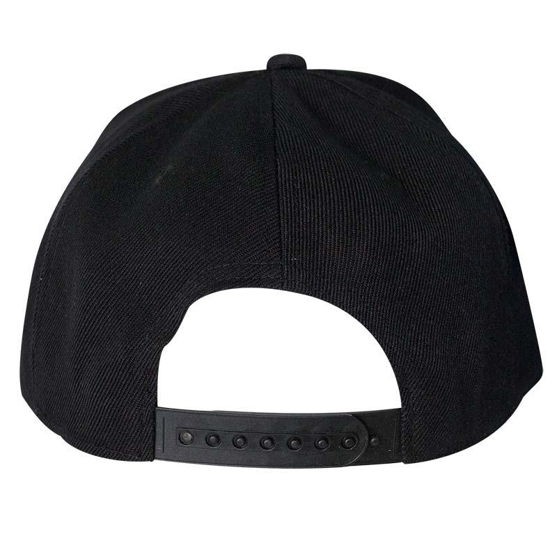 c2c621f3a46 The Punisher Black Large Logo Snapback Hat