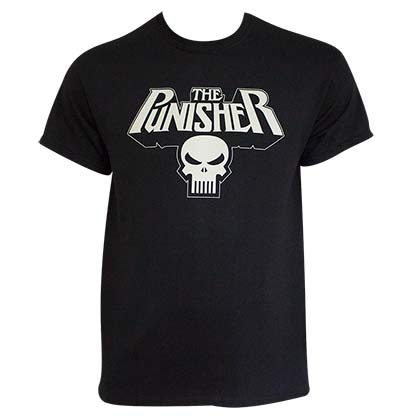 Punisher Men's Black Glow In The Dark Logo T-Shirt