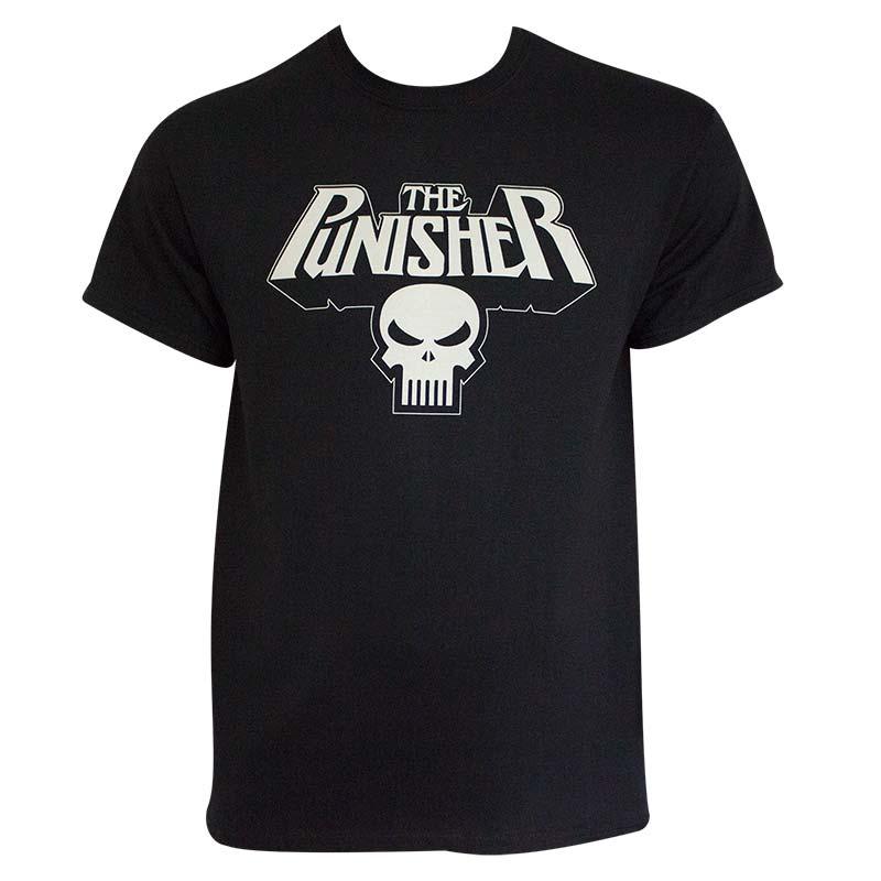 Punisher Men's Black Glow In The Dark Logo T-Shirt