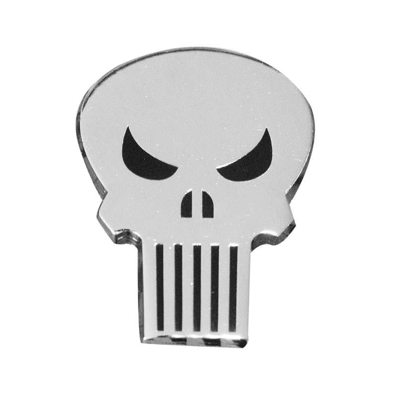 Punisher Skull Logo Metallic Lapel Pin