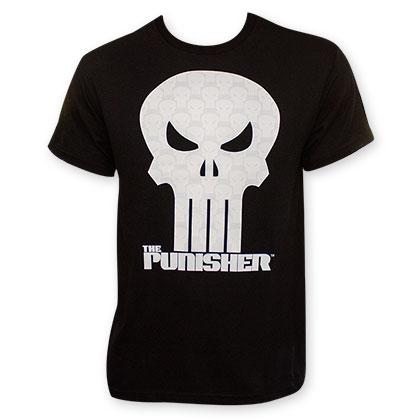 Punisher Black Crystalized Movie Skull T-Shirt