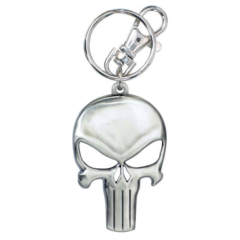 Punisher Metal Skull Logo Keychain