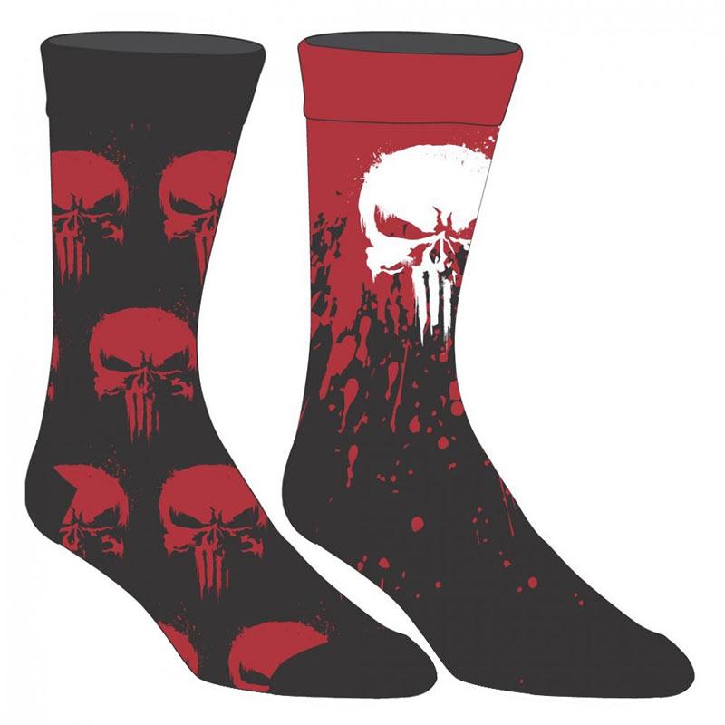 Punisher Marvel 2 Pack Men's Crew Socks