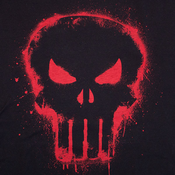 Red Skull Black Men's Punisher Tee Shirt | SuperheroDen.com