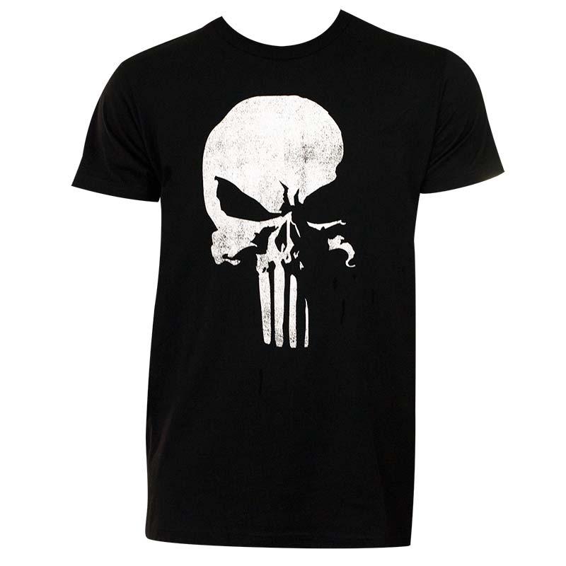 Punisher Men's Black 3D Logo T-Shirt