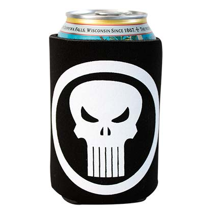 Punisher Black Beer Can Cooler
