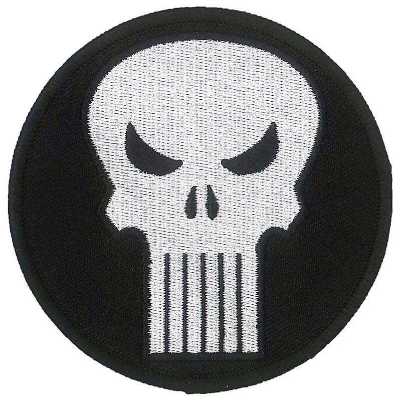 Punisher Comic Logo Iron On Patch