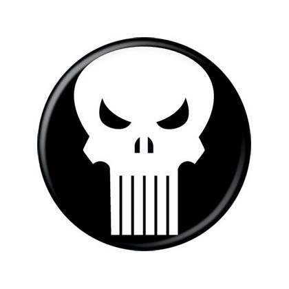 Punisher Skull Logo Button