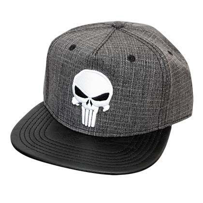 Punisher Grey Tweed Snapback Hat