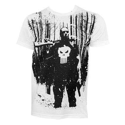 Punisher Men's White Blizzard T-Shirt