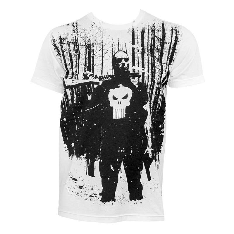 Punisher Men's White Blizzard T-Shirt