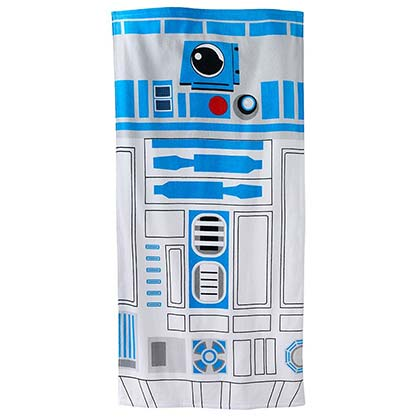 Star Wars Blue & White R2D2 Beach Towel