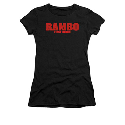 Rambo First Blood Logo Black Juniors T-Shirt