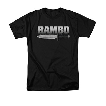 Rambo Knife Black T-Shirt
