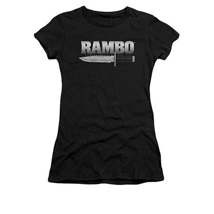 Rambo Knife Black Juniors T-Shirt