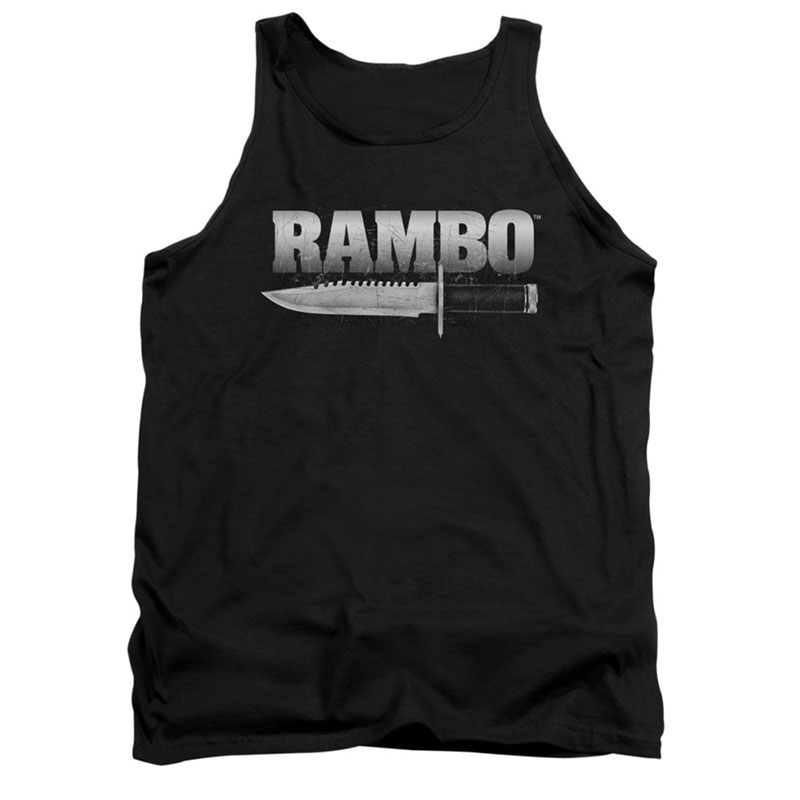 Rambo Knife Black Tank Top