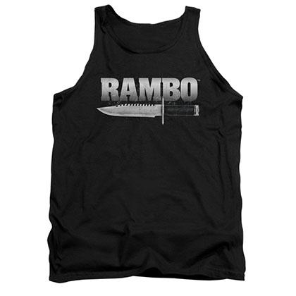 Rambo Knife Black Tank Top