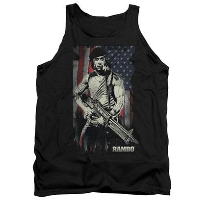 Rambo Worn Liberty Black Tank Top