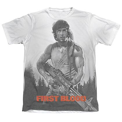 Rambo First Blood Poster Sublimation T-Shirt