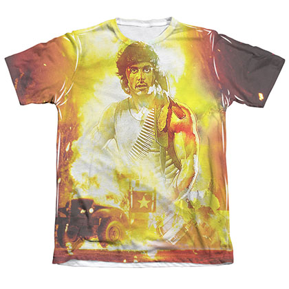 Rambo Poster Sublimation T-Shirt