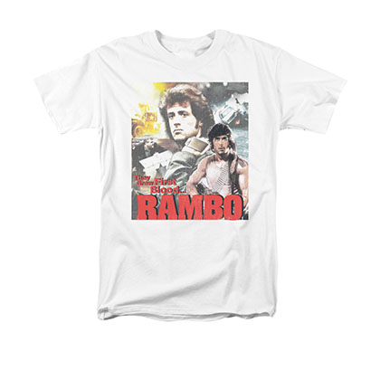 Rambo First Blood They Drew White T-Shirt