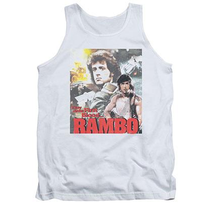 Rambo They Drew White Tank Top