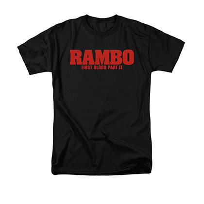 Rambo First Blood II Logo Black T-Shirt