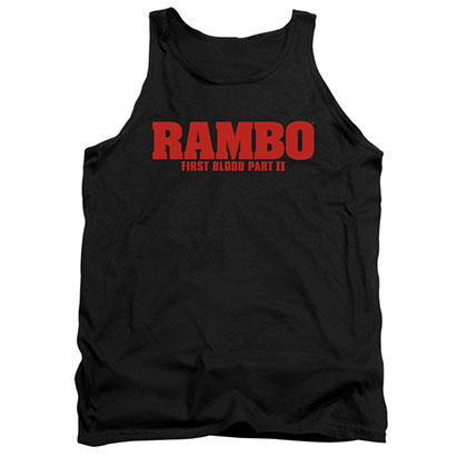 Rambo First Blood II Logo Black Tank Top