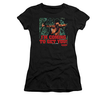 Rambo I'm Coming Black Juniors T-Shirt