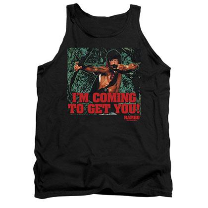 Rambo Coming To Get You Black Tank Top