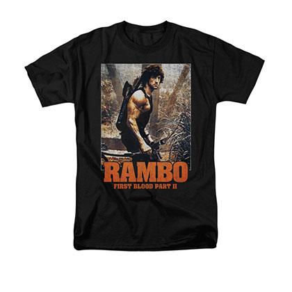Rambo First Blood II The Hunt Black T-Shirt