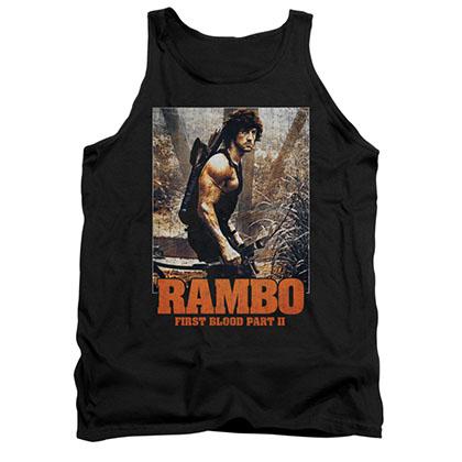 Rambo The Hunt Black Tank Top