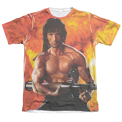 Rambo First Blood II Fire Sublimation T-Shirt