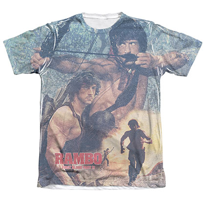 Rambo First Blood II Bow Sublimation T-Shirt