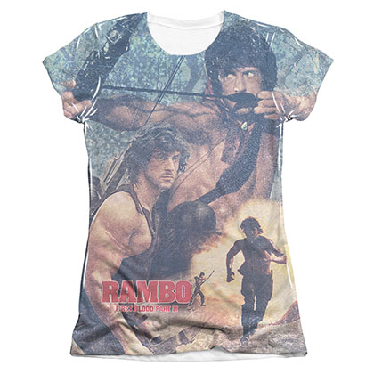 Rambo First Blood II Bow Sublimation Juniors T-Shirt