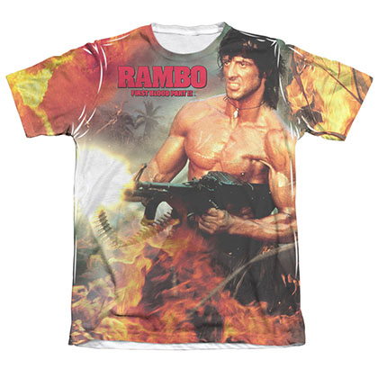 Rambo First Blood II Become War Sublimation T-Shirt