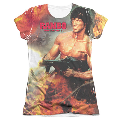 Rambo First Blood Become War Sublimation Juniors T-Shirt