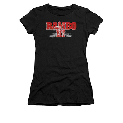 Rambo III John Black Juniors T-Shirt